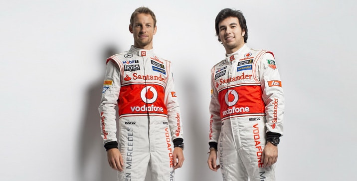 Jenson Button and Sergio Perez (2)