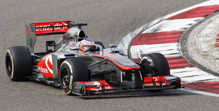 Jenson Button in action.