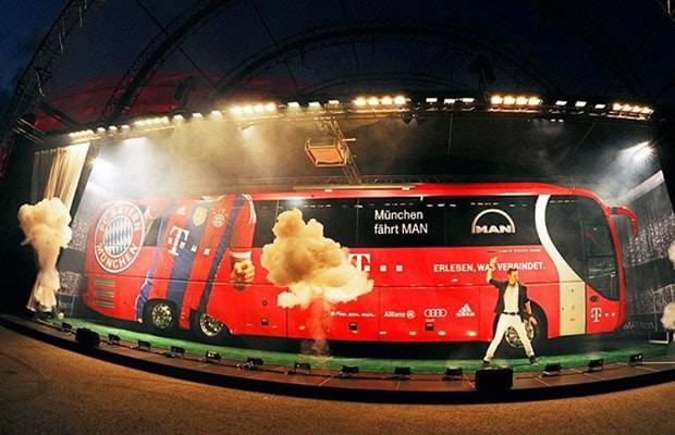 Novi timski autobus FC Bayern Munchen - Autobus MAN 01