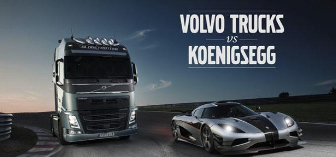 Volvo FH od osam tona izaziva jedan od najbržih sportskih automobila na svijetu – Koenigsegg One:1.