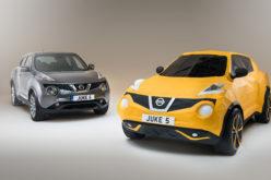 Nissan Juke origami automobil u prirodnoj veličini