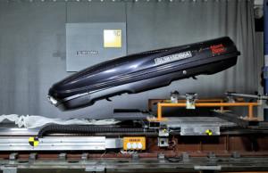 Test Dachboxen imADAC Technik Zentrum Landsberg;Mont Blanc RoofBox Space 450E