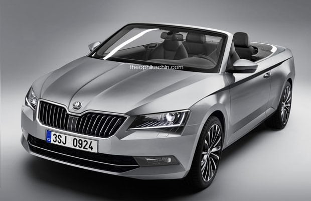 Skoda superb cabrio render 2016 - 01