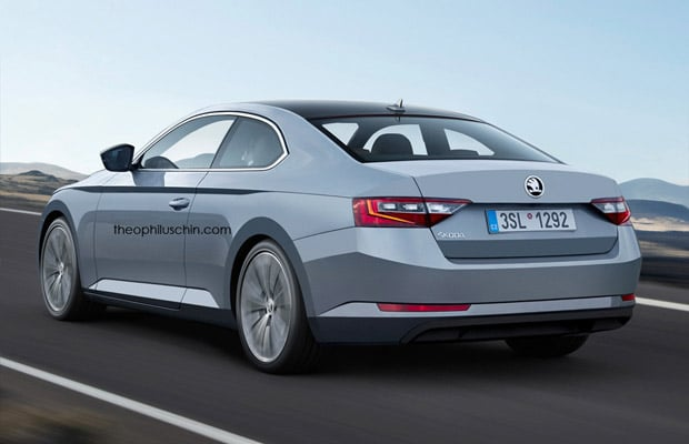 Skoda superb coupe render 2016 - 02