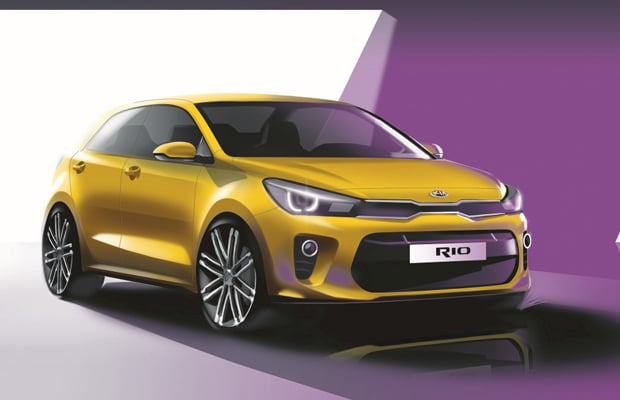 Kia Rio_Exterior Front Quarter Rendering (Medium 4th Generation )