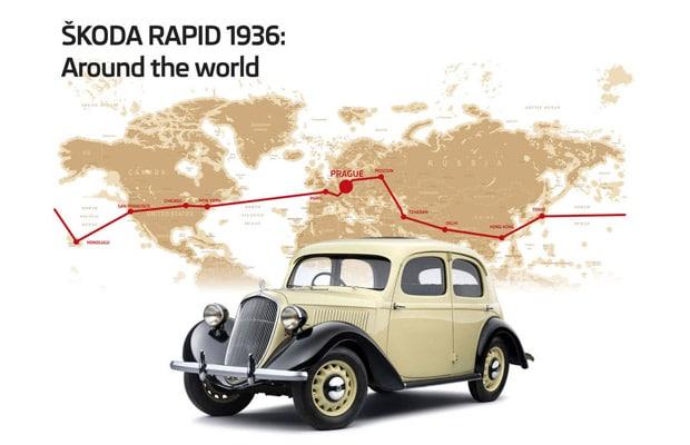skoda rapid typ 901 put oko svijeta 1935