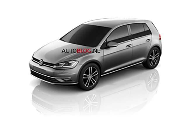vw golf facelift 2018 render - 01