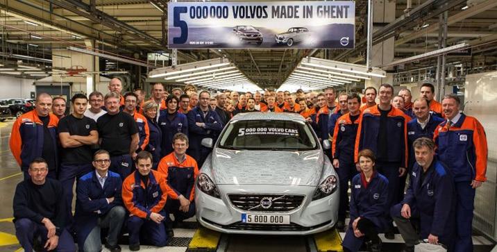 Pet miliona Volvo vozila iz pogona Ghent
