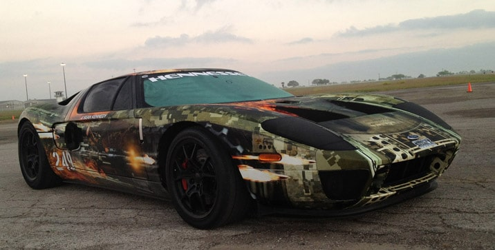 Hennessey-Ford-GT-Texas-Mile-Record-front-three-quarter-2