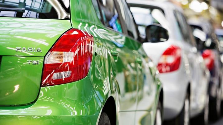 Výroba osobního automobilu ¦koda Fabia v automobilce ¦koda Auto a.s v Mladé Boleslavi.