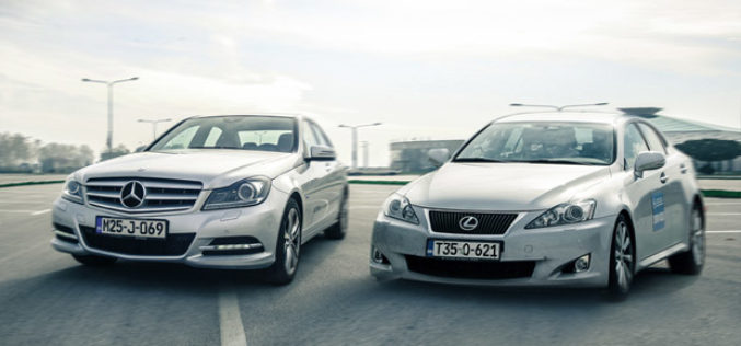 Uporedni test: Mercedes C 220 CDI vs. Lexus IS 220d – Rat zvijezda!