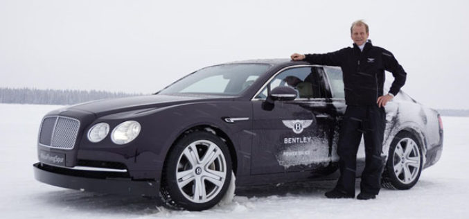 Novi Bentley Flying Spur na ledu