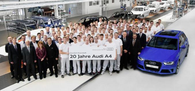 20 godina proizvodnje Audija A4 u Ingolstadtu