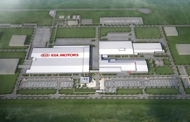 Kia Motors Mexico Plant Aerial View Rendering (Medium)