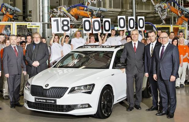 Skoda 18 miliona automobila 2016