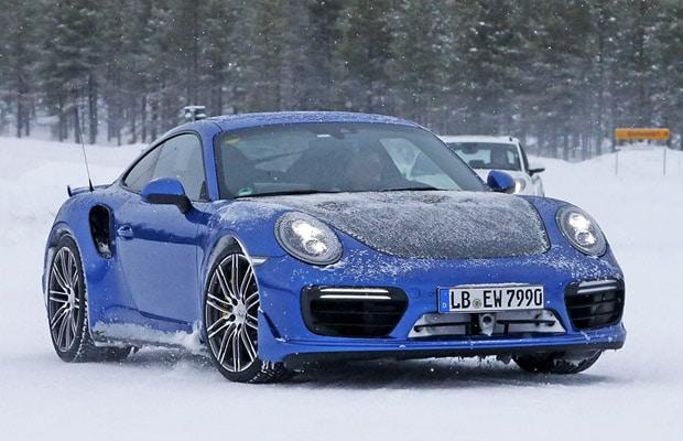 Porsche 911 GT2 winter test 2016