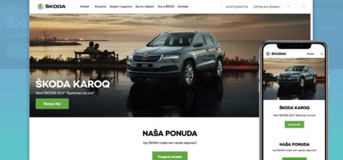 Redizajnirana web stranica marke ŠKODA u BiH