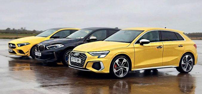 Audi S3, BMW M135i i Mercedes-AMG A35 u direktnoj borbi. Koji model je najbolji?