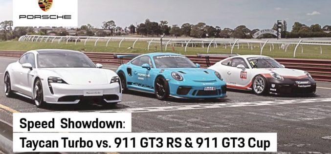 Porsche Taycan na Drag utrci brži od 911 GT3 RS i 911 GT3 Cup modela